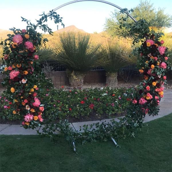 Không gian lễ cưới lãng mạn giữa thiên nhiên của Hoa hậu Mỹ.