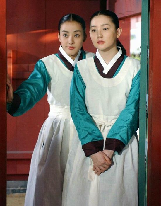 Park Eun Hye khi đóng Nàng Dae Jang Geum.