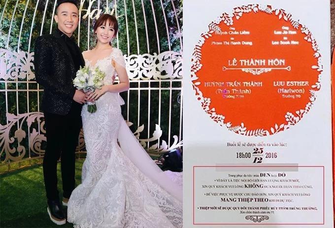 Thiệp cưới của Trấn Thành - Hari Won.