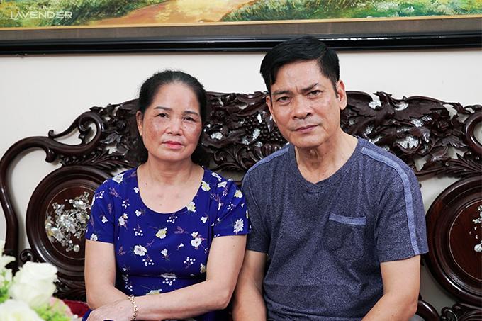 Vợ chồng cô Nguyễn Thị Hoa và chú Đặng Ngọc Đạm.