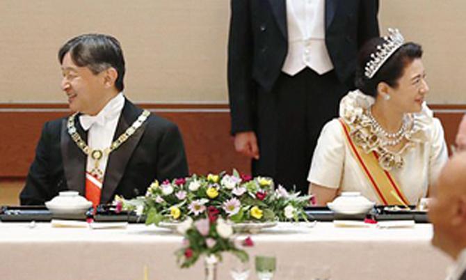 Nhật hoàng mở tiệc chiêu đãi sau lễ đăng quang