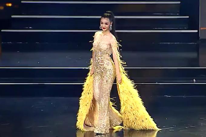 Kiều Loan lạc quẻ khi diện jumsuit ở bán kết Miss Grand
