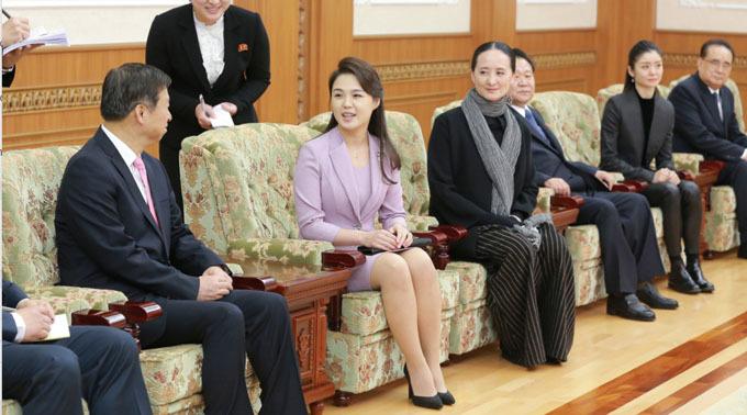 Bà Ri trong một cuộc họp với các lãnh đạo cấp cao Triều Tiên năm 2018. Ảnh: Rodong Sinmun.