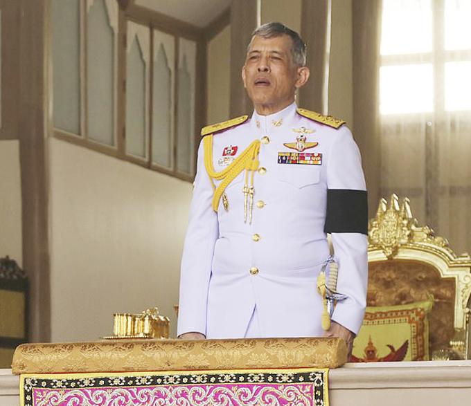 VuaMaha Vajirusongkorn trong lễ tang của vua cha năm 2016. Ảnh: AP.