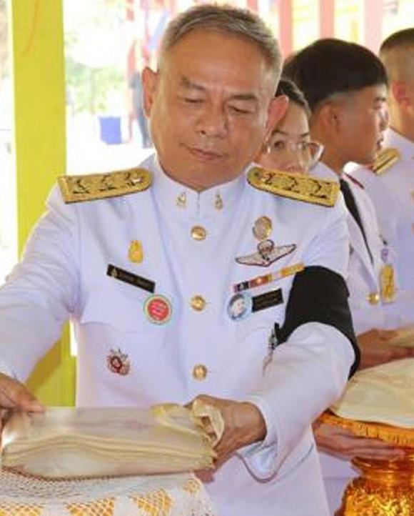 Trung tướng cảnh sát Salolket Chatra - một trong những quan chức bị sa thải. Ảnh: