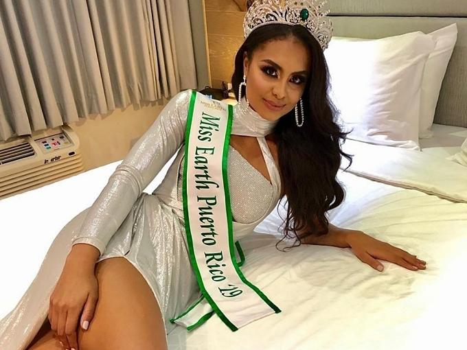 Nellys Pimentel đăng quang Hoa hậu Trái đất Perto Rico 2019 vào ngày 9/5. Cô năm nay 22 tuổi, cao 1,73m