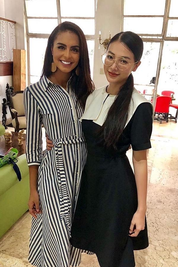 Cộ đọ dáng cùng Miss Earth 2018 - Nguyễn Phương Khánh.