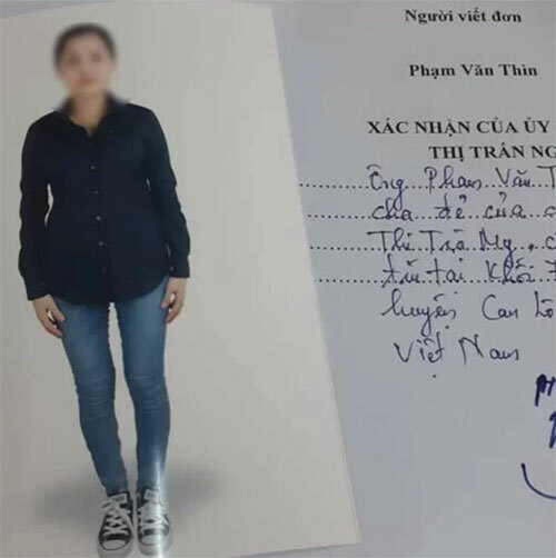 Phạm Thị Trà My hiện bị nghi là một trong số 39 thi thể trên chiếc cointainer. Ảnh: Sun.