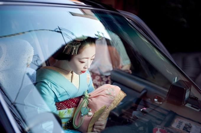 Một geisha ở Kyoto. Ảnh Clancy Lethbridge