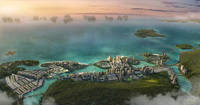 Mặt dự án hướng ra vịnh Hạ Long.