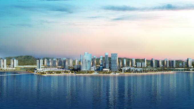 Halong Marina được phát triển theo mô hình nghỉ dưỡng phức hợp bên bờ vịnh Hạ Long.
