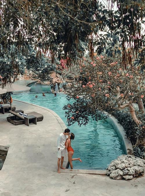 Vợ chồng Minh Nhựa ở resort dành cho ngôi sao - 2