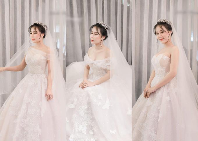 Hot face Ngọc Thuý hé lộ nhữn hình ảnh buổi fitting chiếc váy 3 trong 1 dành cho tiệc cưới