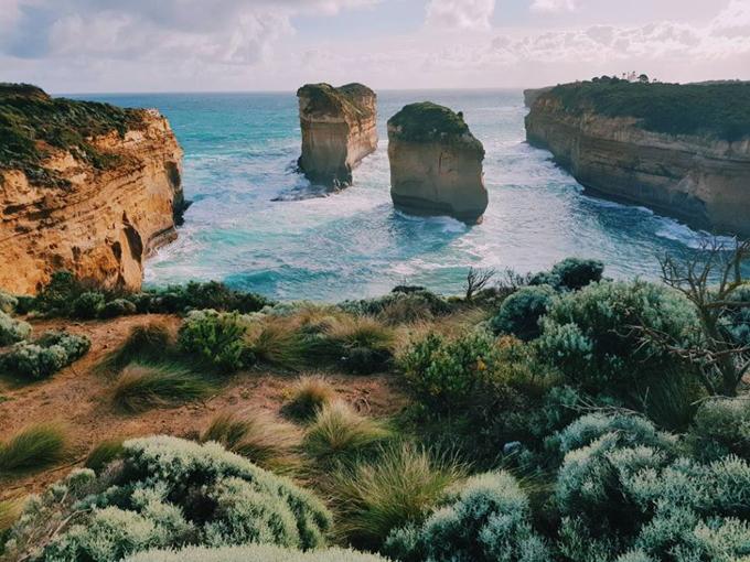 Cung đường Great Ocean Road huyền thoại ở miền Nam Australia. Ảnh: Nguyên Chi