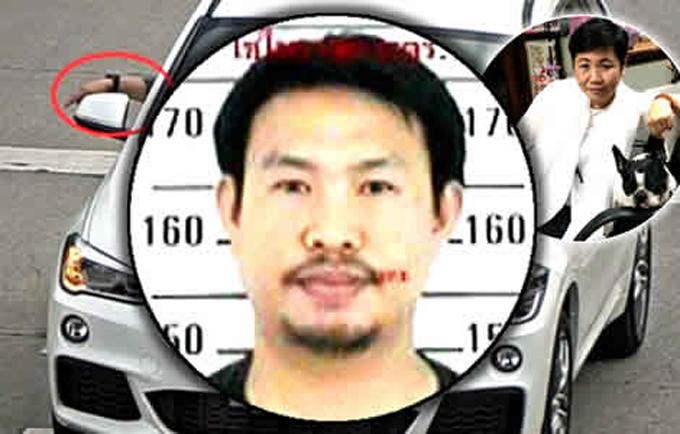 Chân dung tài xế Withun - nghi phạm giết triệu phú Wannee Jiracharoenying - đang bị truy nã ở Thái Lan. Ảnh: Chiang Mai Police.