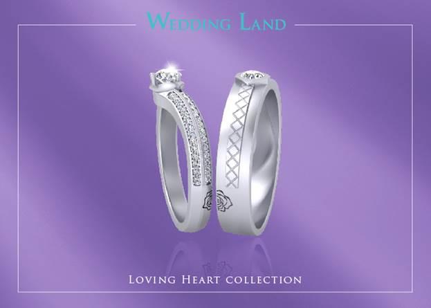 Nét tinh tế đặc sắc của cặp nhẫn cưới trong Bộ sưu tập Loving heart còn được thể hiện ở thiết kế tuy hai mà một. Hai chiếc nhẫn khi gắn với nhau sẽ tạo ra một bông hoa hồng hoàn hảo và trọn vẹn. Gọi BST này có một không hai cũng không sai khi Kim cương 99 giác cắt chỉ Thương hiệu Wedding Land mới có và hai chiếc nhẫn gắn với nhau tạo ra một bông hồng như mối tình đã gắn kết sẽ không bao giờ chia lìa.
