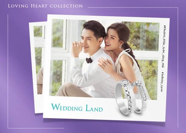 Bộ sưu tập Loving Heart được các nhà thiết kế của Wedding Land sử dụng kim cương đặc biệt Kim cương 99 giác cắt mà chỉ có thương hiệu Wedding Land sở hữu. Khác biệt so với hàng triệu cặp nhẫn trên thế giới, dòng nhẫn 99 giác cắt của Wedding Land giúp phát sáng tốt hơn và lấp lánh hơn.