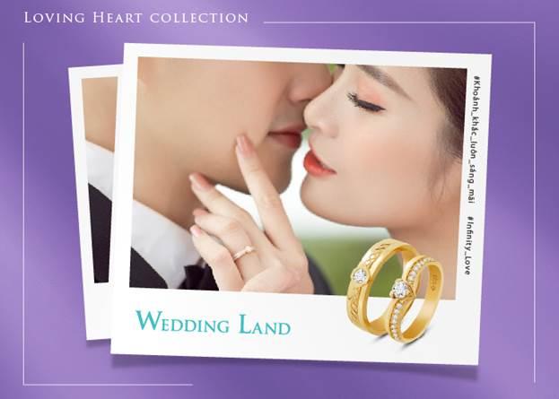 Mẫu nhẫn nữ trong Bộ sưu tập Loving Heart có một viên đá chủ kim cương 99 giác cắt được bao quanh bởi họa tiết hình trái tim. Kim cương 99 giác cắt đặt trong ổ chờ trái tim như một lời nhắn nhủ của chàng trai dành cho cô gái: Niềm tin của Em sẽ luôn đặt trong trái tim Anh.