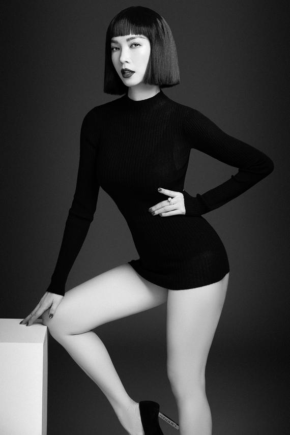 Xuân Lan thử nghiệm mái tóc ngắn mái bằng, cho diện mạo cá tính, trẻ trung.