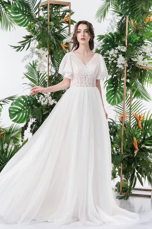 Váy cưới 2 trong 1 lấy cảm hứng từ đóa hoa - page 2 - 7