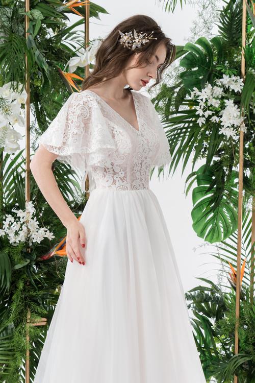 Váy cưới 2 trong 1 lấy cảm hứng từ đóa hoa - page 2 - 8