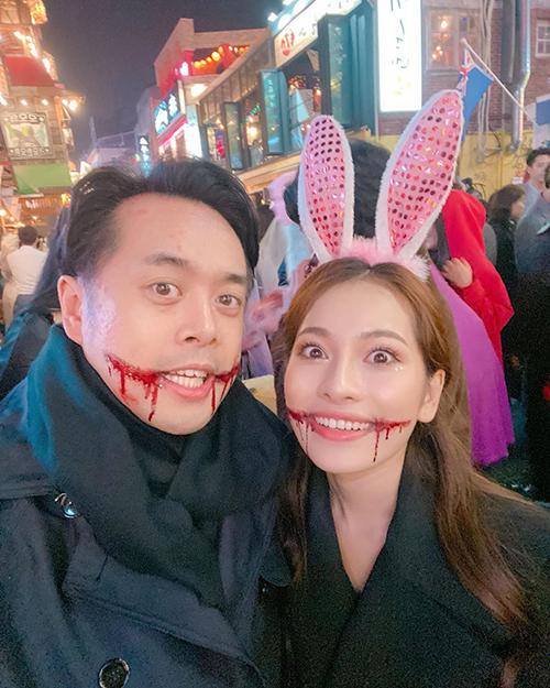 Đang du lịch ở Hàn Quốc, vợ chồng nhạc sĩ Dương Khắc Linh - Sara Lưu cũng hào hứng nhập cuộc.