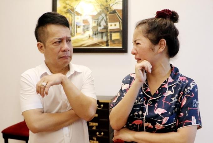 Nghệ sĩ Minh Nhí tập kịch cùng học trò.