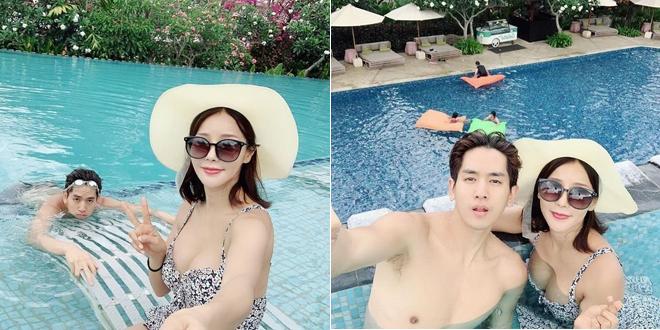 Trên Instagram cá nhân, ca sĩ Mina, Hàn Quốc chia sẻ cô và chồng trẻ có những ngày nghỉ lãng mạn ở Bali. Cặp đôi tắm nắng, thả mình trong làn nước xanh của bể bơi và ngắm biển từ xa. Kể từ khi kết hôn, hai vợ chồng tăng cường dành thời gian bên nhau, với mong muốn sớm có em bé.