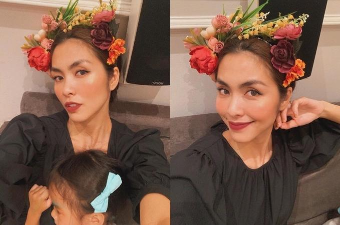 Tăng Thanh Hà chụp ảnh selfie cùng con gái. Khoảnh khắc khoe khéo gương mặt công chúa nhỏ Chloe Nguyễn khiến nhiều người thích thú và mong cô sớm công khai diện mạo bé.