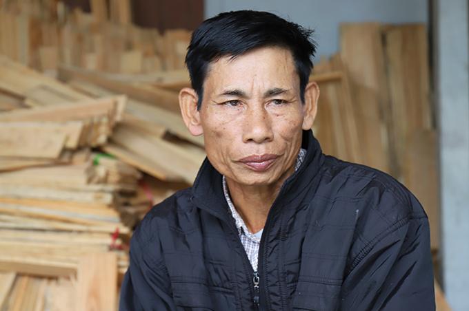 Ông Nguyễn Đình Gia, bố anh Nguyễn Đình Lượng. Ảnh: Hùng Lê