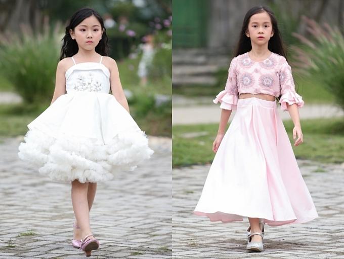 Trang phục được gửi gắm tinh thần của các nàng công chúa vùng đất Tây Âu: thơ dại huyền bí nhưng thấp thoáng phong thái mạnh mẽ.