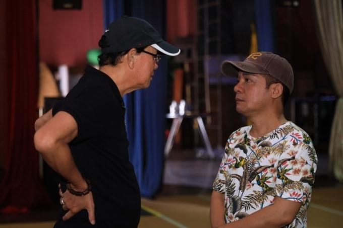 Nghệ sĩ Minh Nhí cũng có mặt tại buổi tập.