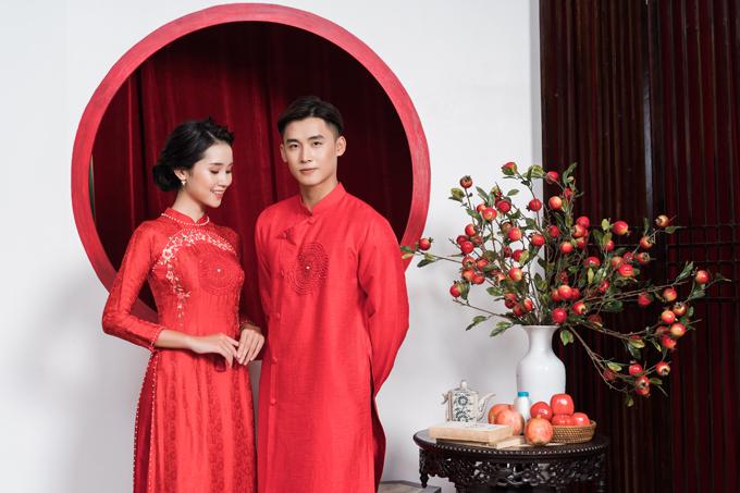 Bộ ảnh được thực hiện bởi trang phục: Luci Lily Bridal, trang điểm: Kin Đoàn, làm tóc: LaLa, nhiếp ảnh: Tran Vinh Dat.