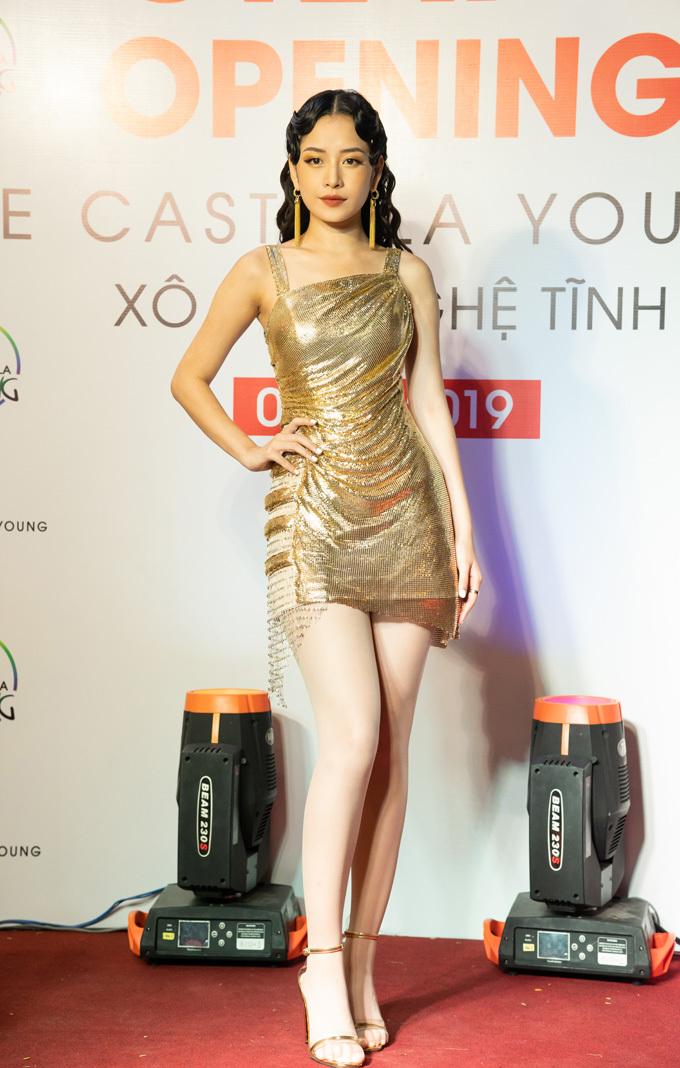 Chi Pu gây chú ý khi xuất hiện trong buổi khai trương cửa hàng Le Castella Young đầu tiên tại Việt Nam.