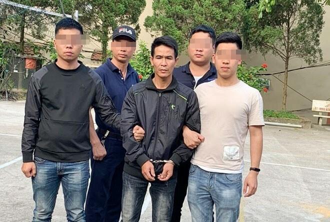 Phan Văn Toàn bị bắt khi đang chuẩn bị vượt biên sang Trung Quốc. Ảnh: Công an Lào Cai
