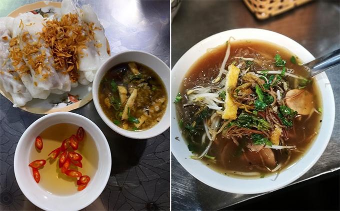Bánh cuốn và cháo lươn được Tóc Tiên khen ngon nhức nách.