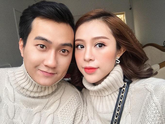 Anh Tuấn và Hồng Anh Kichi khi còn mặn nồng.