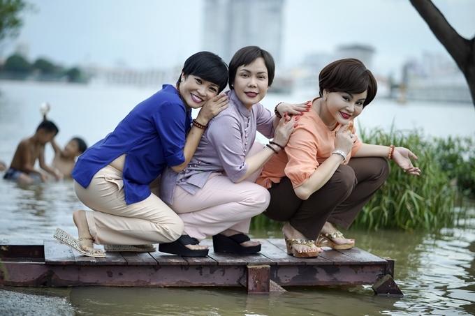 Từ trái qua: Phương Thanh, Việt Hương và Lê Giang đóng chung.