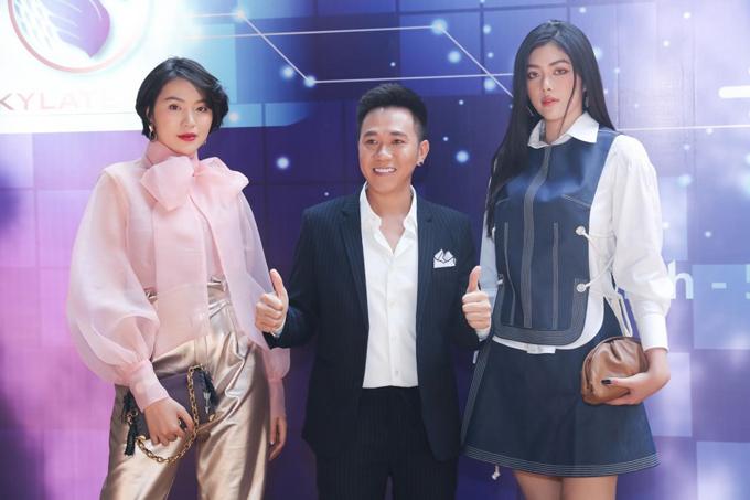 Người đẹp Huỳnh Tiên và Lê Bảo Ngọc tới chung vui cùng nghệ sĩAnh Đức.