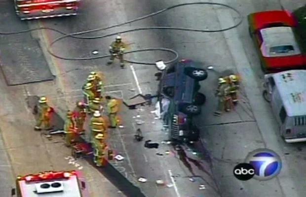 Hiện trường vụ tai nạn của Jennifer Syme năm 2002.