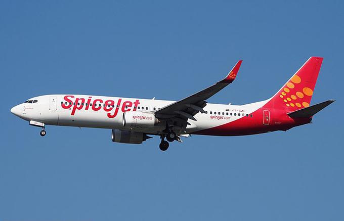 Máy bay của hãng Spicejet, Ấn Độ. Ảnh: Suparat.