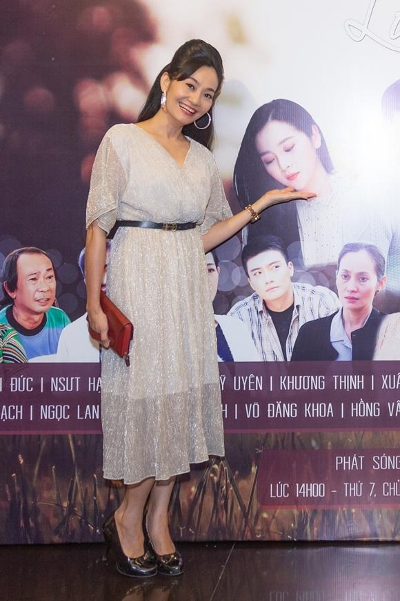 Diễn viên Hạnh Thúy dự họp báo ra mắt phim Nước mắt loài cỏ dại.