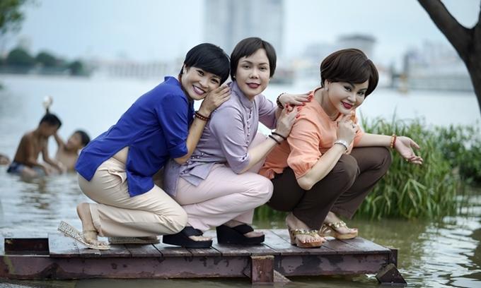 Từ trái qua: Phương Thanh, Việt Hương và Lê Giang là ba cây hài của phim.