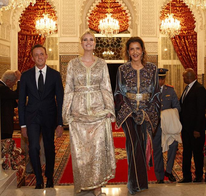 Ivanka Trump dùng bữa tối với công chúa Morocco - 1