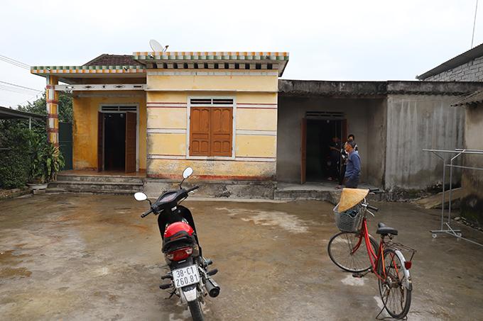 Căn nhà cấp bốn của gia đình anh Võ Văn Linh. Ảnh: Hùng Lê