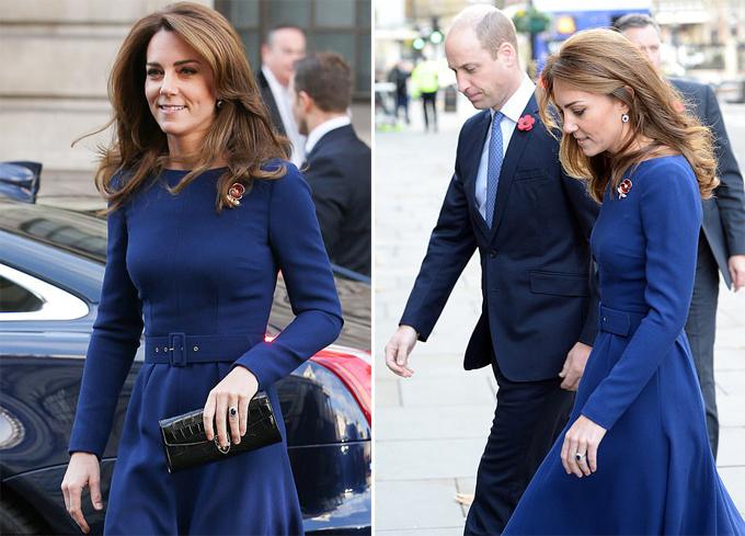 Vợ chồng Kate - William đến nhà thờ ở London hôm 7/11. Ảnh: Rex.
