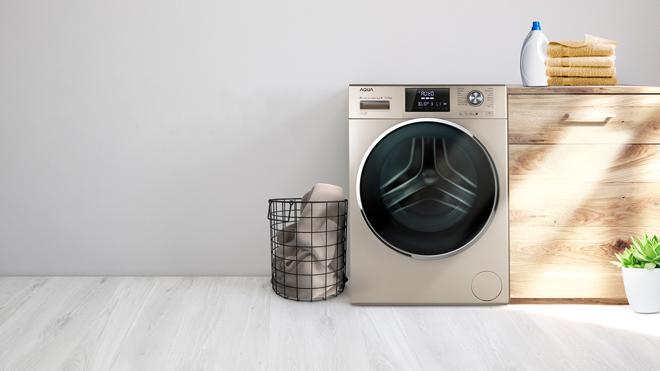 Công nghệ Ultra Slim của máy giặt Aqua lồng giặt to giúp tiết kiệm diện tích lên đến 12%.