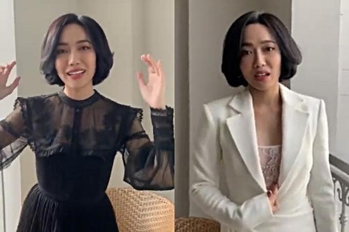 Nữ diễn viên cũng khoe với người hâm mộ sẽ diện hai thiết kế trắng và đen theo đúng dresscode của hôn lễ.