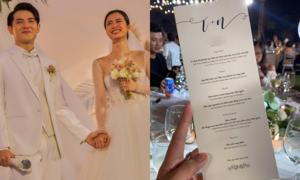 Tiệc cưới hải sản của Đông Nhi