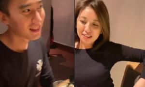 Chồng Chung Hân Đồng đi với phụ nữ lạ